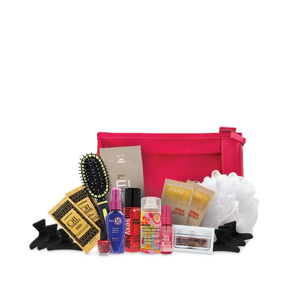 Holiday hair care bag
