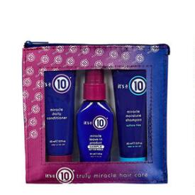 It's a 10 Miracle Travel Bag & Travel Size Shampoo and Hair Conditioner