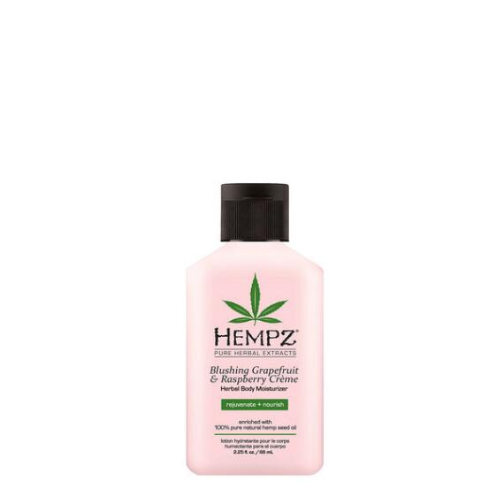Hempz Blushing Grapefruit and Raspberry Creme Herbal Body Moisturizer Travel Size