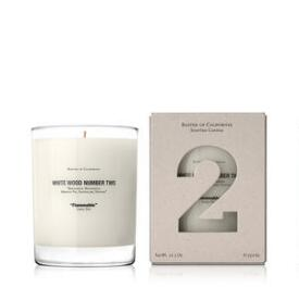 Baxter of California White Wood Two Candle