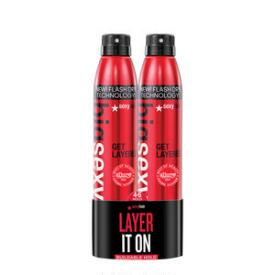 Sexy Hair Big Sexy Hair Get Layered Flash Drying Thickening Spray Duo