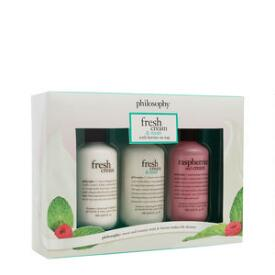 philosophy fresh cream and mint shower gel trio