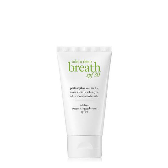 philosophy take a deep breath spf 30 oxygenating gel cream moisturizer