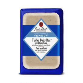 Jack Black Turbo Body Bar Scrubbing Soap with Blue Lotus & Lava Rock