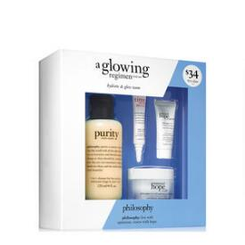 philosophy a glowing regimen 4-piece trial set