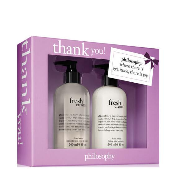 philosophy thank you fresh cream 2-piece set