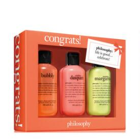 philosophy congrats shampoo, bath & shower gel 3-piece set