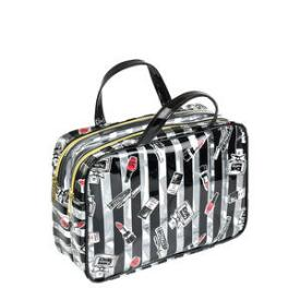 Modella Clearly Makeup Double Zip Weekender Bag