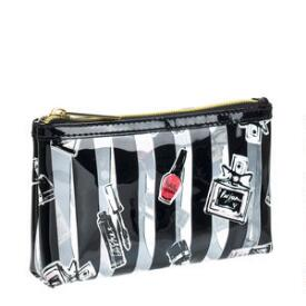 Modella Clearly Makeup Stripe Purse Kit