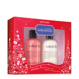 philosophy sparkling hollyberries shower gel and lotion duo