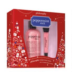 philosophy peppermint stick shower gel and lip gloss duo