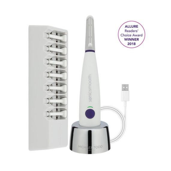 Michael Todd Beauty Sonicsmooth Dermaplaning Device White