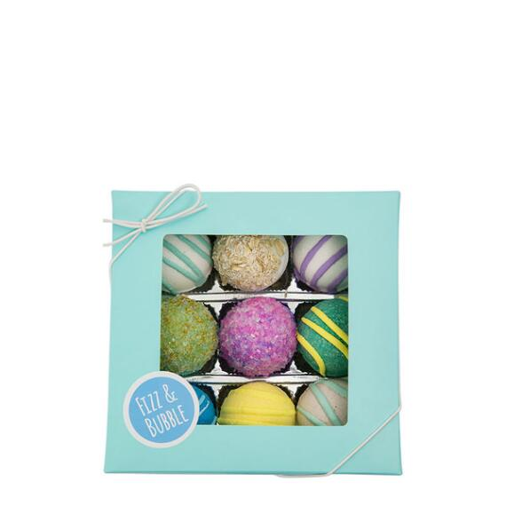 Fizz and Bubble Spa Bath Truffles 9-Piece Set