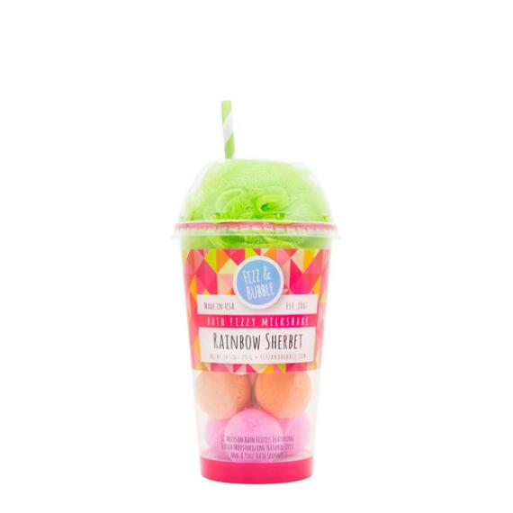 Fizz and Bubble Rainbow Sherbet Bubble Bath Milkshake