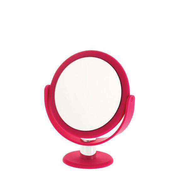 Danielle 10x Soft Touch Round Pink Vanity Mirror