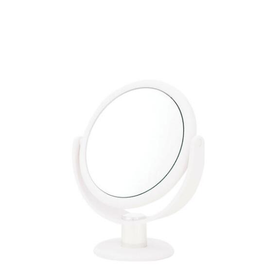 Danielle 10x Soft Touch Round White Vanity Mirror
