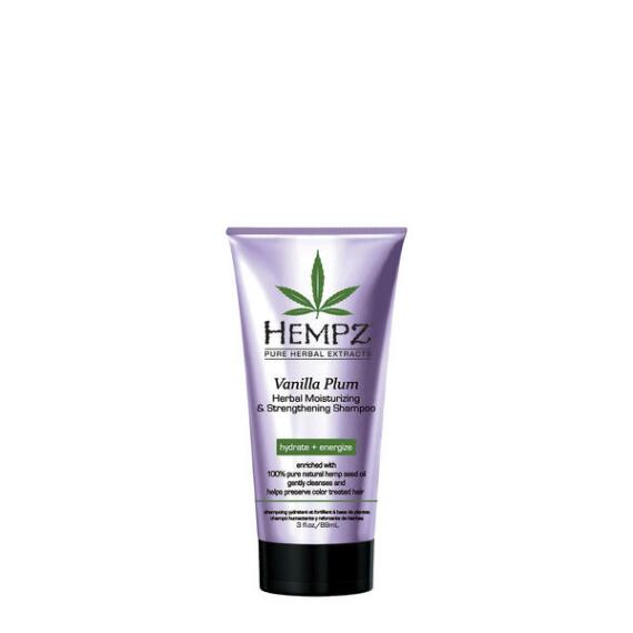 Hempz Vanilla Plum Herbal Moisturizing and Strengthening Shampoo Travel Size