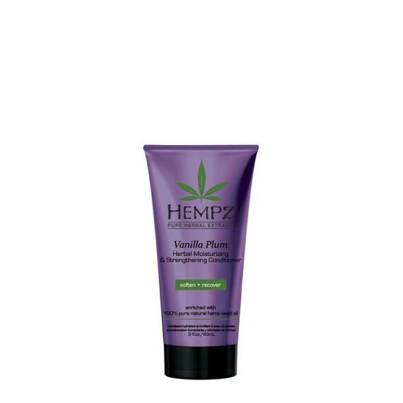 Hempz Vanilla Plum Herbal Moisturizing and Strengthening Conditioner Travel Size