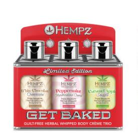 Hempz Get Baked Herbal Whipped Body Creme Trio