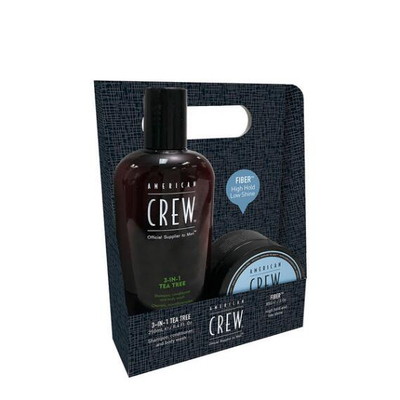 American Crew 3-in-1 Tea Tree and Fiber Duo