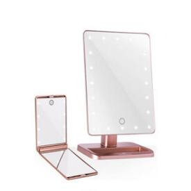 Impressions Vanity Touch XL and TouchUp Makeup Mirror Bundle in Rose Gold