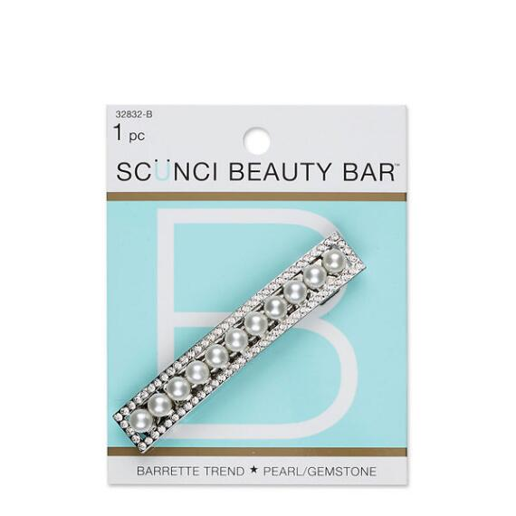 Conair Scunci Beauty Bar Pearl and Gemstone Barrette