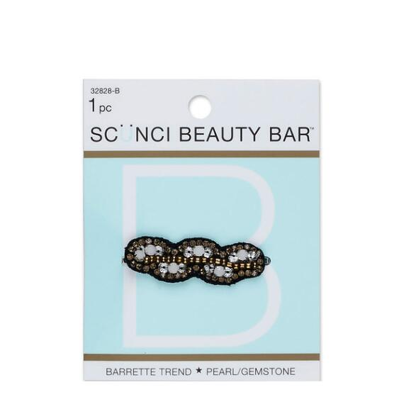 Conair Scunci Beauty Bar Pearl and Gemstone Beaded Barrette