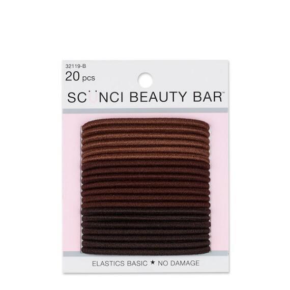 Conair Scunci Beauty Bar No Damage Brown Elastics 20-Pack