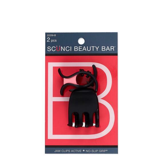 Conair Scunci Beauty Bar No Slip Springless Cushion Chunky Jaw Clips 2-Pack