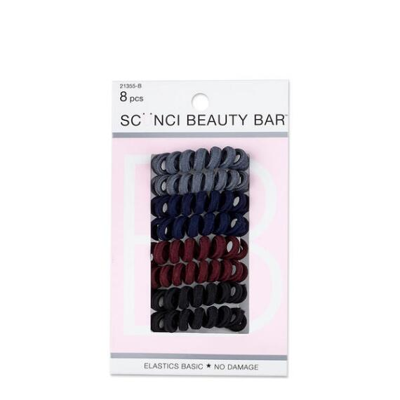 Conair Scunci Beauty Bar Fabric Covered Spiral Twisters 8-Pack