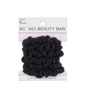Conair Scunci Beauty Bar No Damage Black Mini Twisters 6-Pack