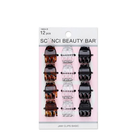 Conair Scunci Beauty Bar Basic Mini Jaw Clips 12-Pack