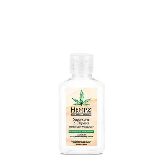 Hempz Sugarcane and Papaya Herbal Moisturizer Travel Size