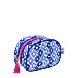 Modella Blue and Pink Compact Makeup Case