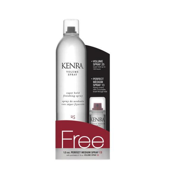 Kenra Volume Spray 25 and Deluxe-size Perfect Medium Spray 13 Duo