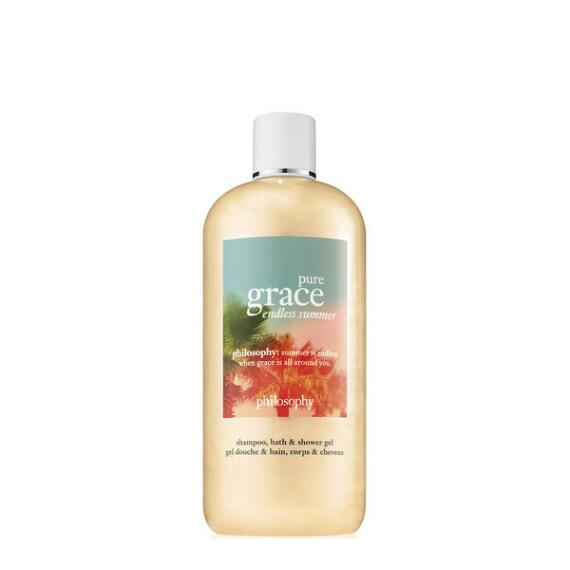 philosophy pure grace endless summer shampoo, bath and shower gel