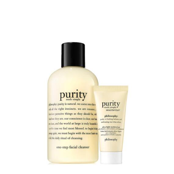 philosophy purity made simple cleanser and moisturizer duo