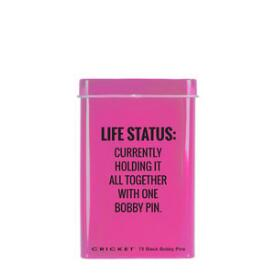 Cricket Life Status Bobby Pin Tin