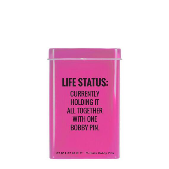 Cricket Life Status Bobby Pin Tin