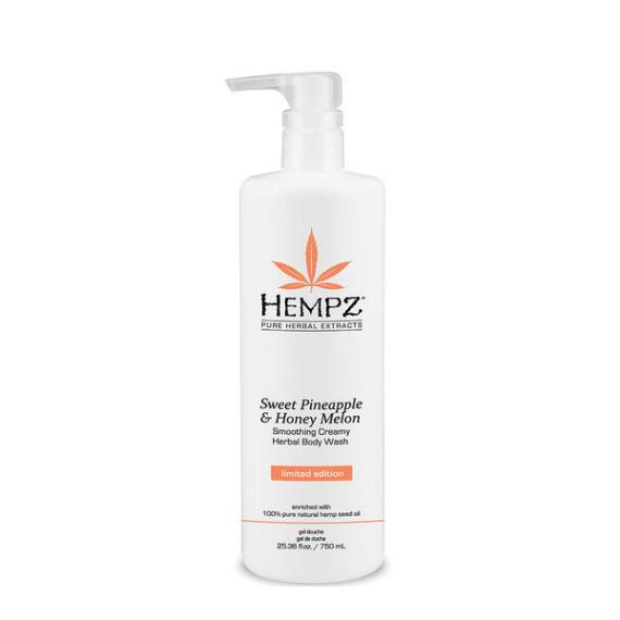 Hempz Sweet Pineapple and Honey Melon Smoothing Creamy Herbal Body Wash
