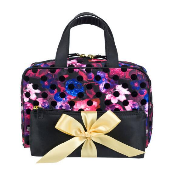Modella Floral Dot Weekender Bag Set