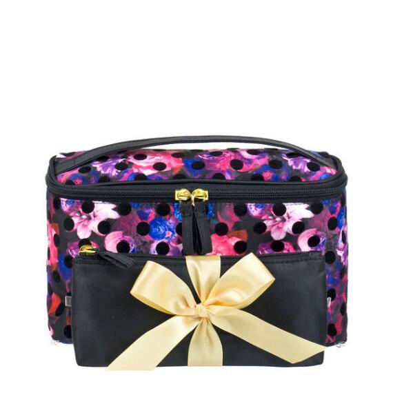 Modella Floral Dot Train Case Set