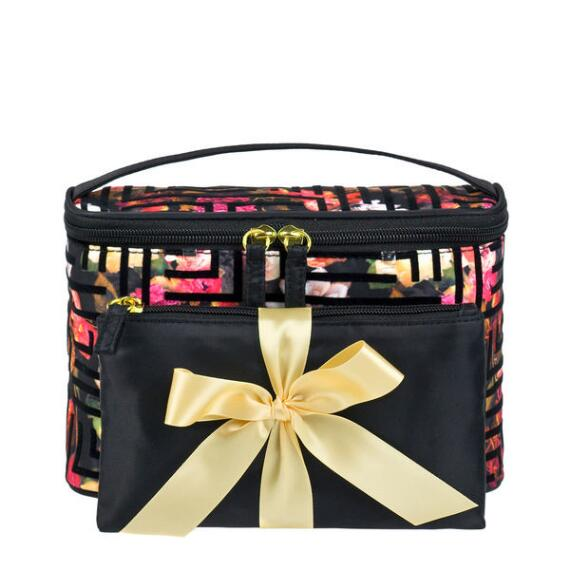 Modella Floral Train Case Set