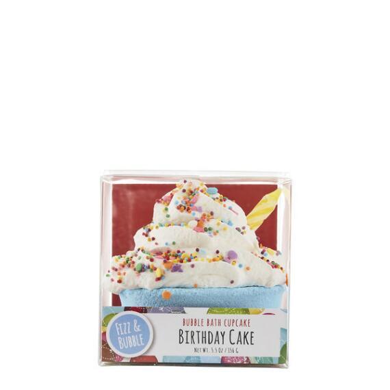 Fizz and Bubble Bubble Bath Birthday Cake Cupcake