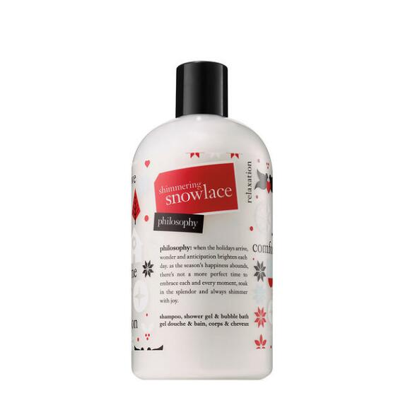 philosophy shimmering snowlace 3 in 1 shampoo shower gel and bubble bath