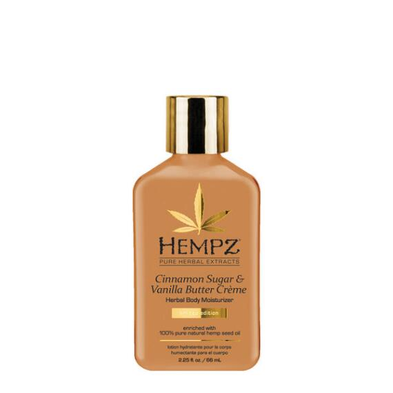 Hempz Cinnamon Sugar and Vanilla Butter Creme Body Moisturizer Travel Size