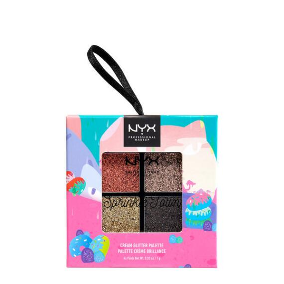 NYX Professional Makeup Sprinkle Town Cream Glitter Metallics Palette