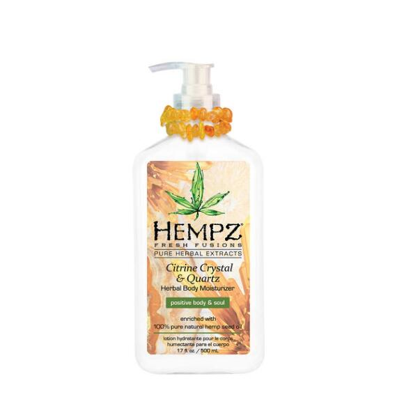 Hempz Citrine Crystal and Quartz Herbal Body Moisturizer