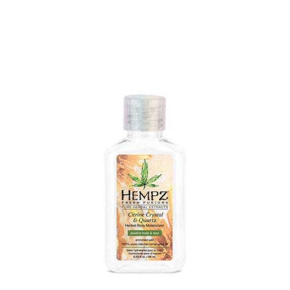 Hempz Citrine Crystal and Quartz Herbal Body Moisturizer Travel Size