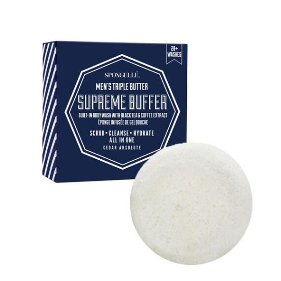 Spongelle Mens Super Buffer - Cedar Absolute
